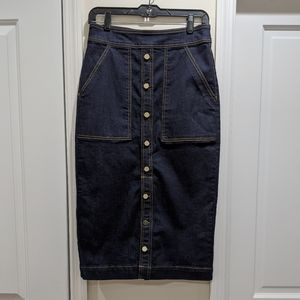 NWOT NY&Co - Button Down Jean Skirt